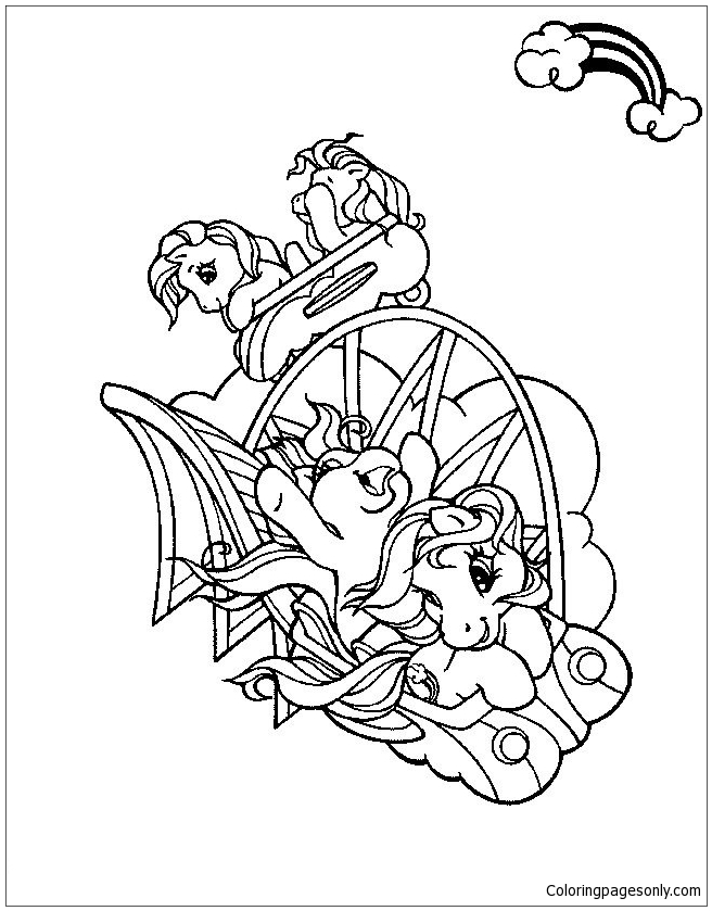 My Little Pony Is Playing The Glider Coloring Page