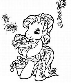 My Little Pony Loves Flowers