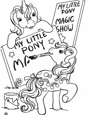 My Little Pony Magic Show Coloring Page