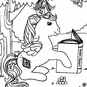 My Little Pony Magic Coloring Page