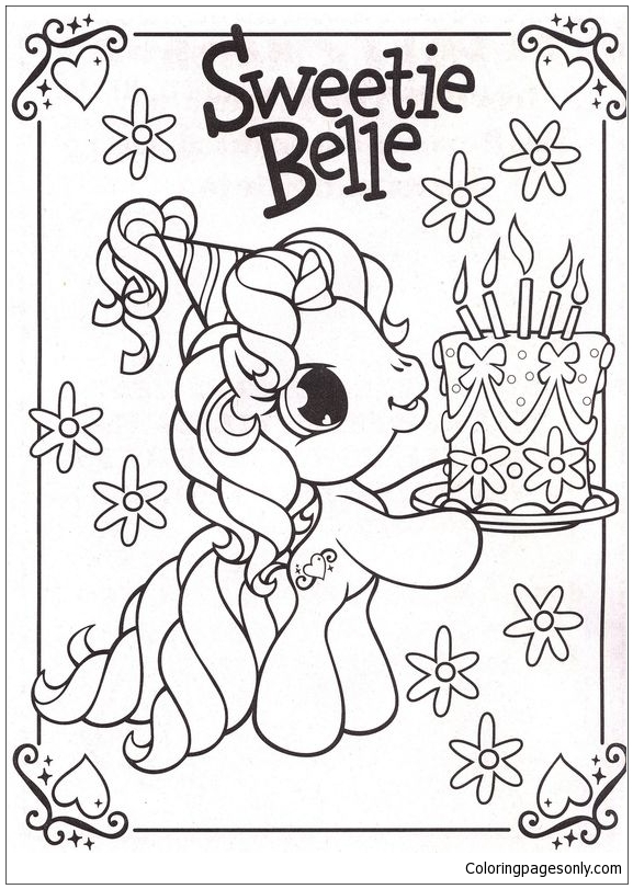 My Little Pony Party Ideas Coloring Page