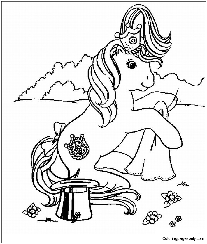My Little Pony Performing Magic Coloring Page