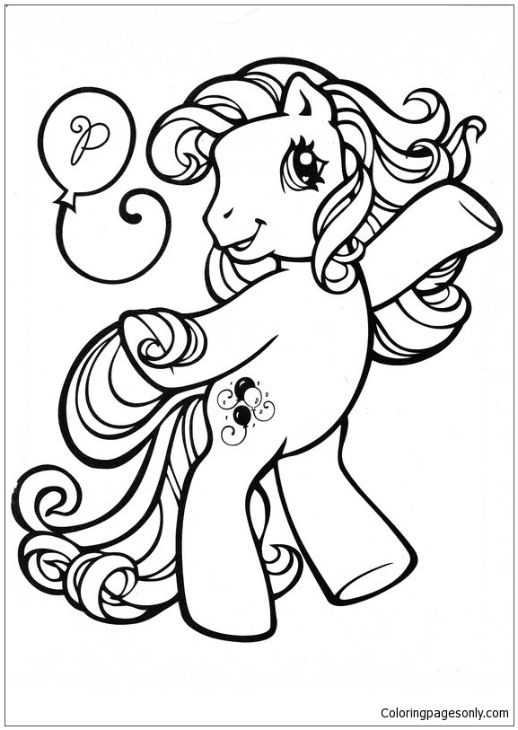 My Little Pony Pinkie Pie 1 Coloring Page - Free Coloring ...