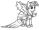 My Little Pony Princess Twilight Sparkle Coloring Page