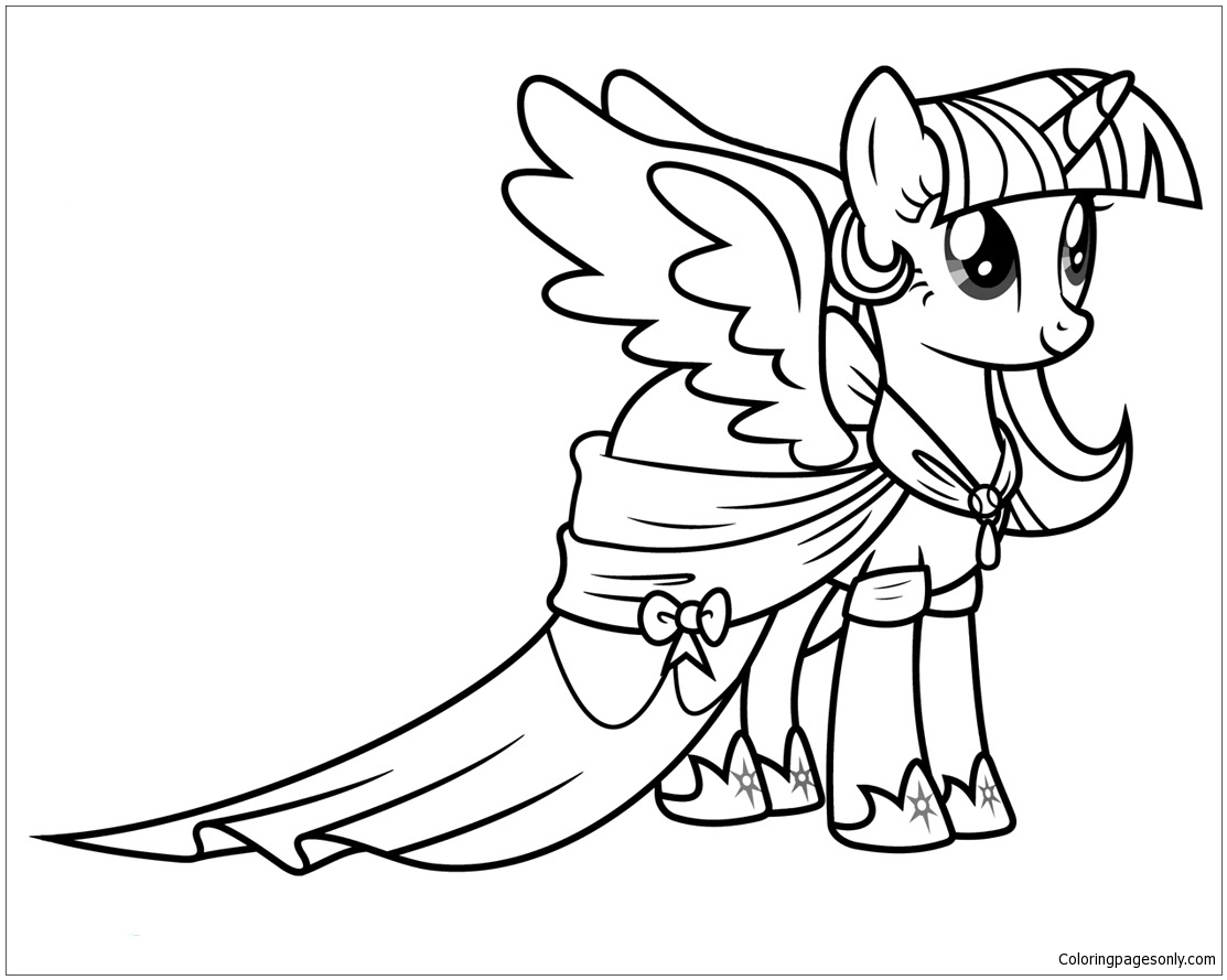 My Little Pony Princess Twilight Sparkle Coloring Page ...