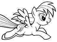 My Little Pony Rainbow Dash 1 Coloring Page