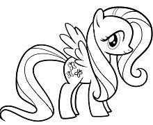 My Little Pony Rainbow Dash 3 Coloring Page