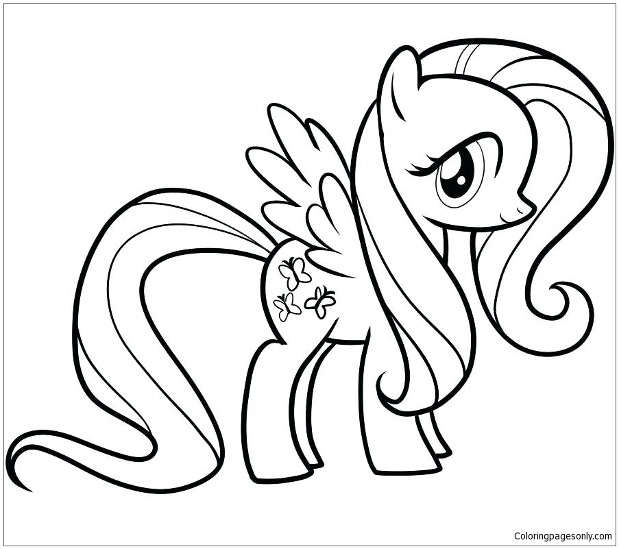 My Little Pony Rainbow Dash 3 Coloring Page - Free ...