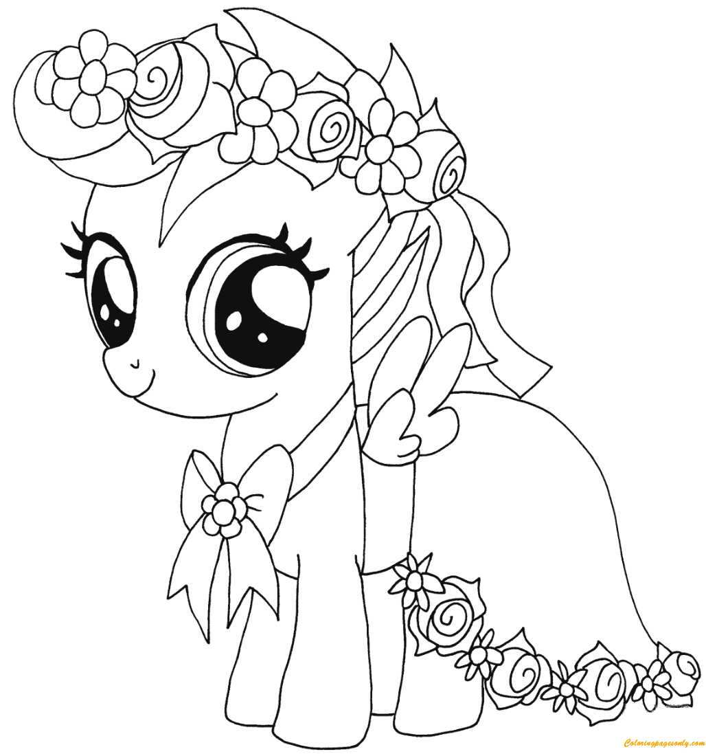 My Little Pony Scootaloo Coloring Page - Free Coloring ...