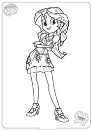 My Little Pony Sunset Shimmer Character Coloring Page