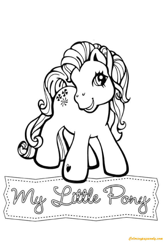 Hard My Little Pony Coloring Pages : My little pony sweetberry coloring page free