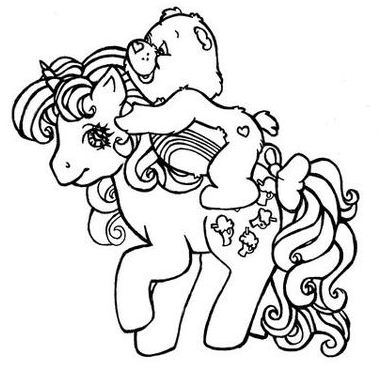 My Little Pony With Her Friend Coloring Page