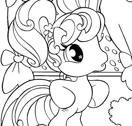 My Little Pony With New Room Coloring Page