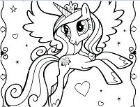 My Little Pony With Wedding  Coloring Page