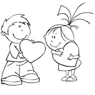 My Valentines Day Couple Coloring Page