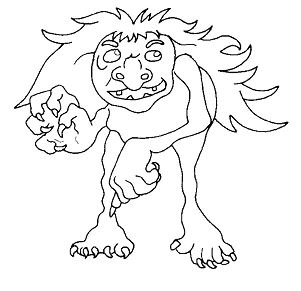 Mythical Creatures From Troll Coloring Page
