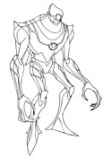 Ben 10 Nanomech from Ben 10 Coloring Page