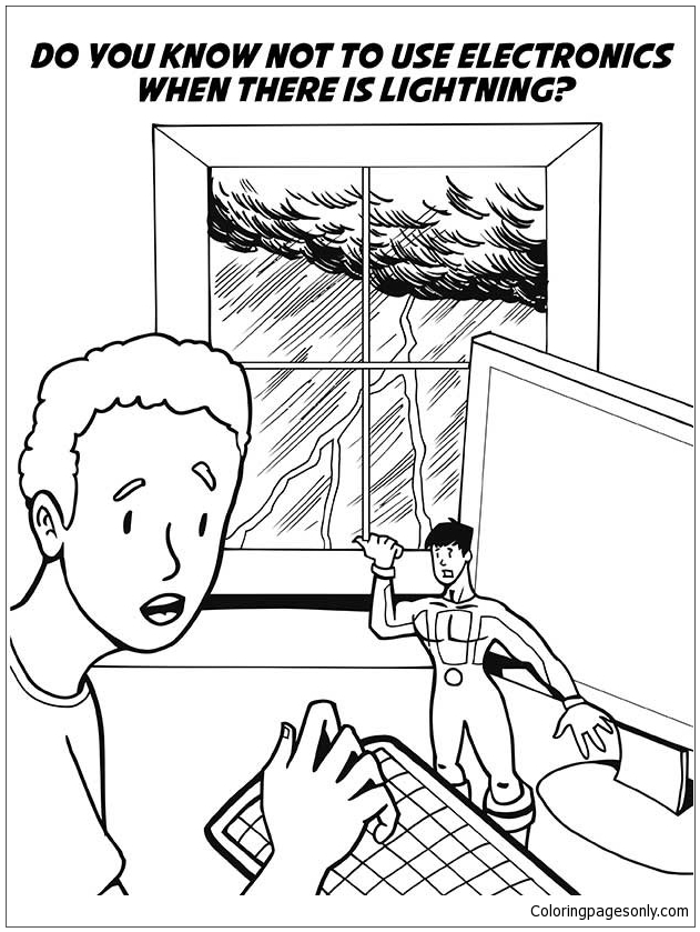 Natural Disaster Safety 1 Coloring Page