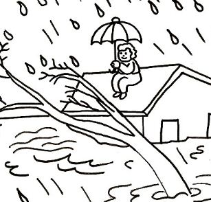 Natural Disasters Coloring Page