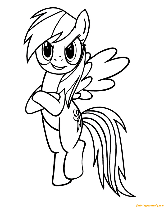 Naughty Rainbow Dash Coloring Page