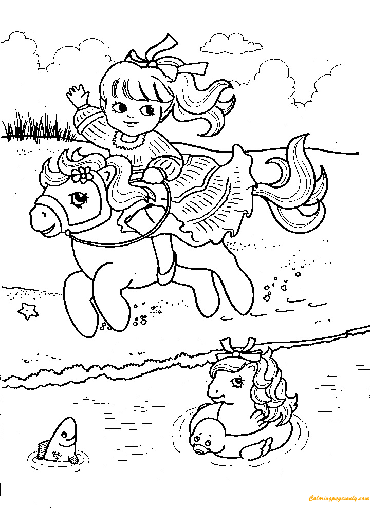 Near The Lake Coloring Page
