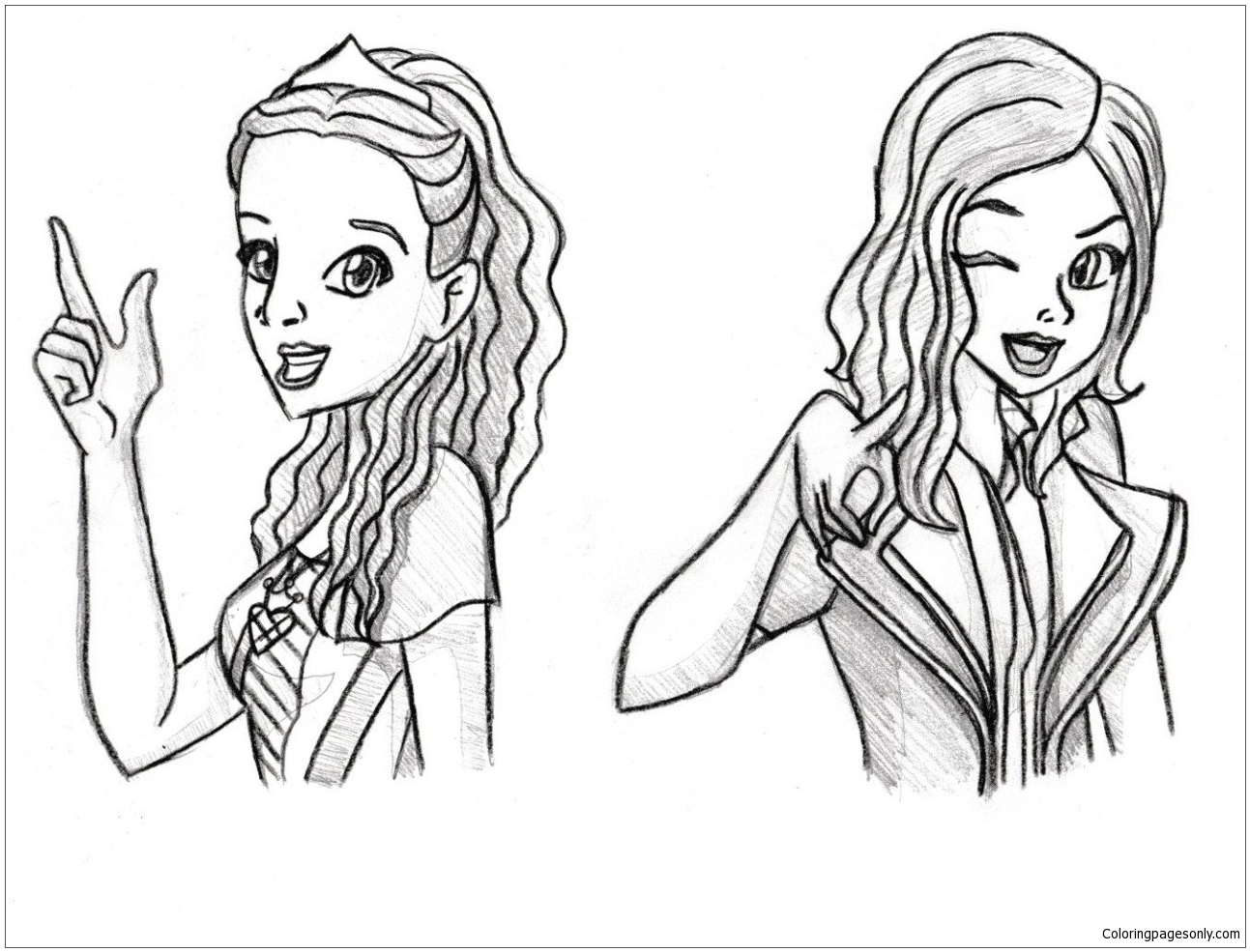 New Disney Descendants Coloring Page Free Coloring Pages