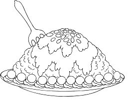 New Fabulous Dessert Coloring Page