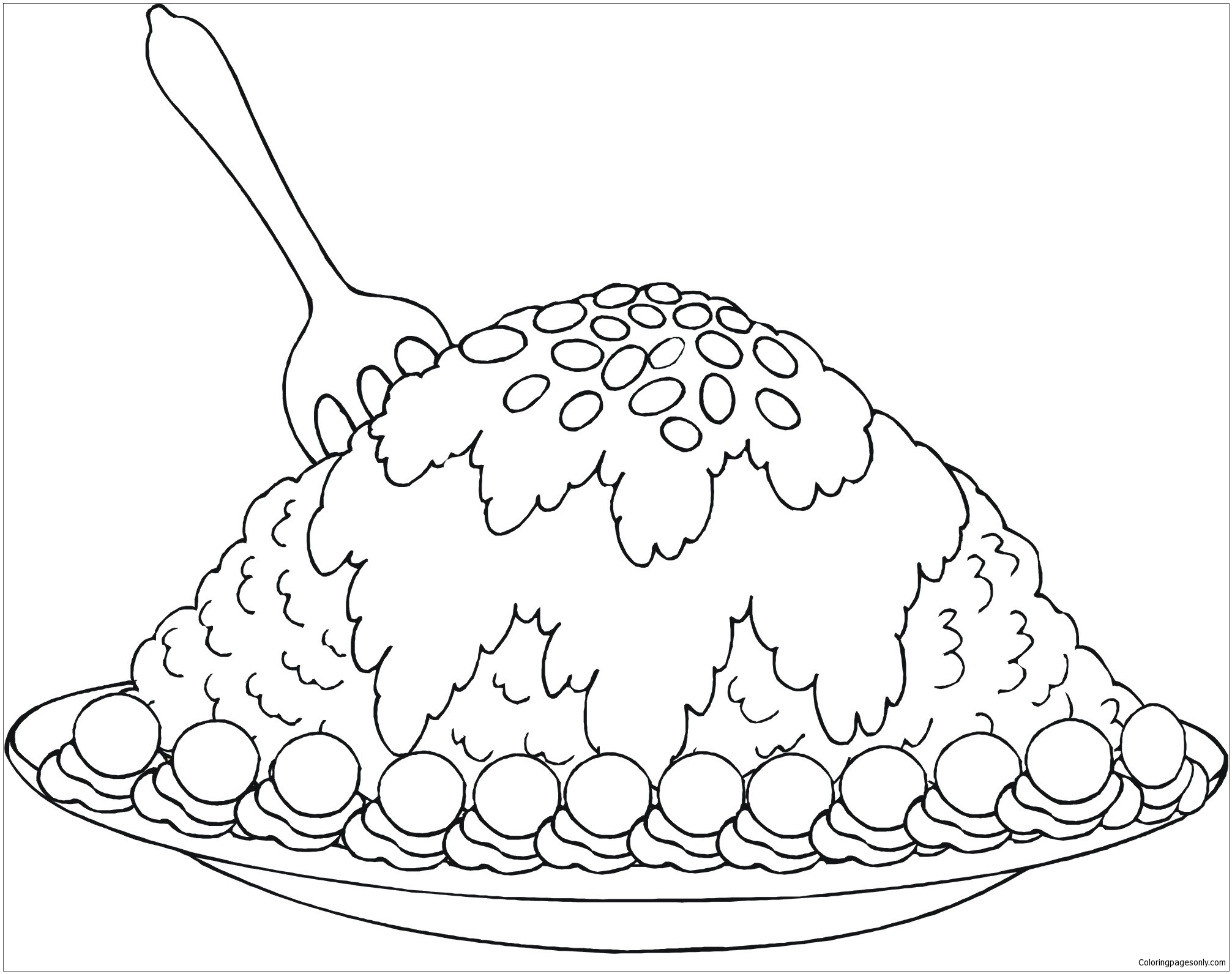 New Fabulous Dessert Coloring Page Free Coloring Pages Online