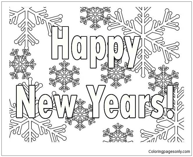 New Year 2017 Coloring Page Free