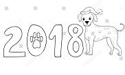 New Year Dog 2018 Dalmatian