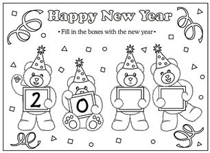 New Years Teddy Bear