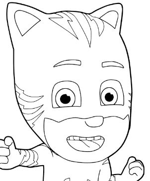 pj masks coloring pages  coloringpagesonly