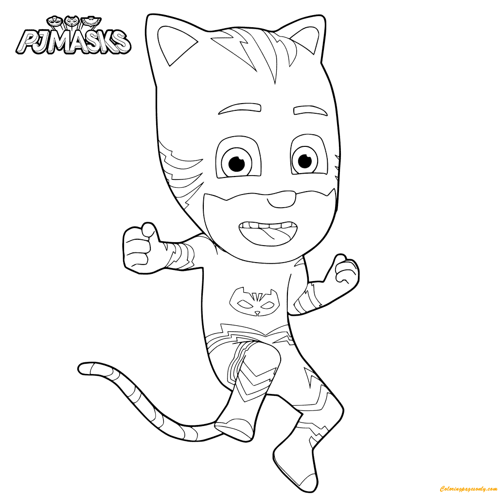 News PJ Masks Coloring Page