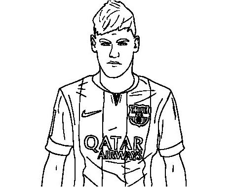 Neymar Coloring Pages - ColoringPagesOnly.com