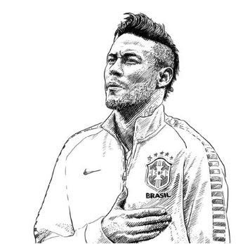 Neymar-image 17 Coloring Page