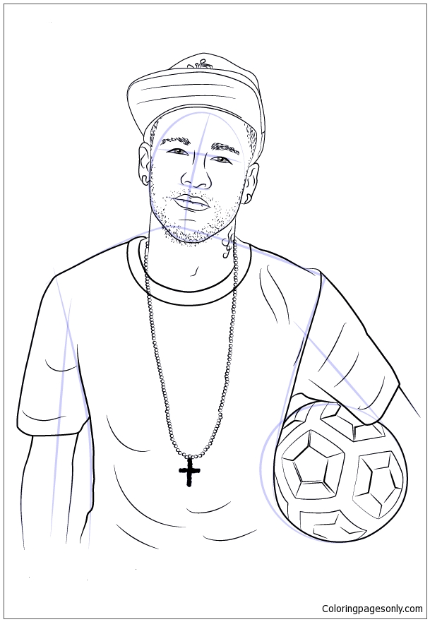 Neymar Image 4 Coloring Page Free Coloring Pages Online