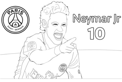 Neymar-image 5 Coloring Page
