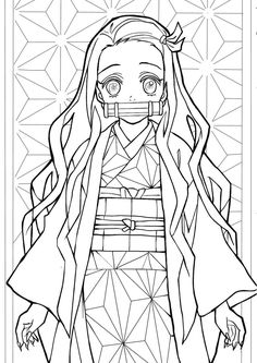 Nezuko from Demon Slayer Coloring Pages