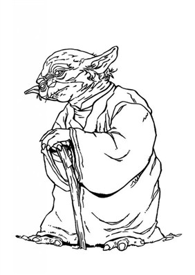 Nice Jedi Yoda Coloring Page
