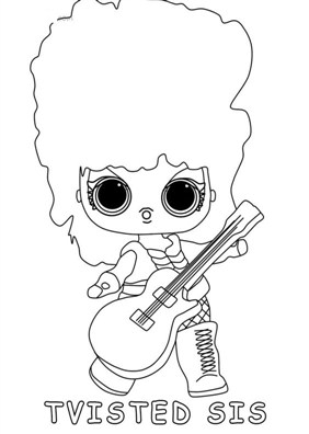 Nice Lol Surprise Doll Coloring Page