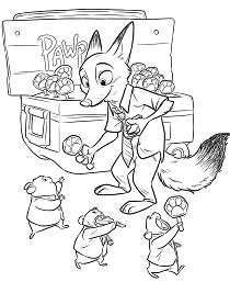 Nick Wilde Coloring Page
