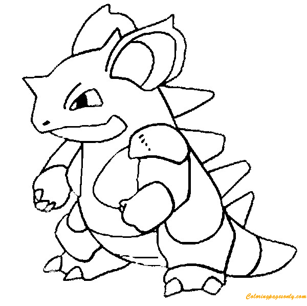 Nidoqueen Pokemon Coloring Page - Free Coloring Pages Online