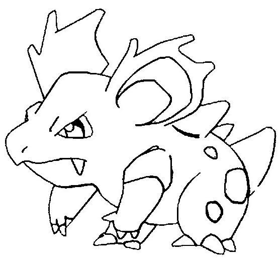 Nidorina Pokemon Coloring Page