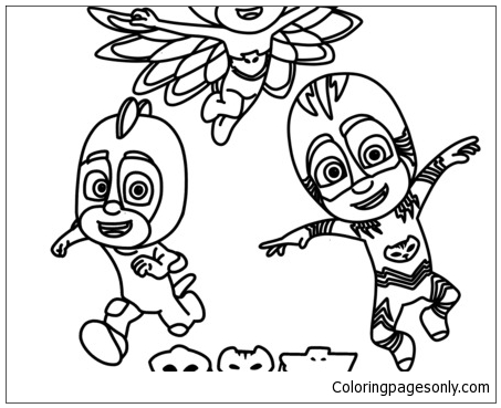 Night Ninja Pj Masks Coloring Page