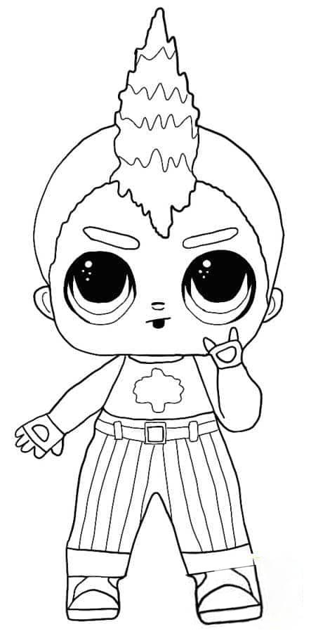 Lol Suprise Doll Nightfall Coloring Page