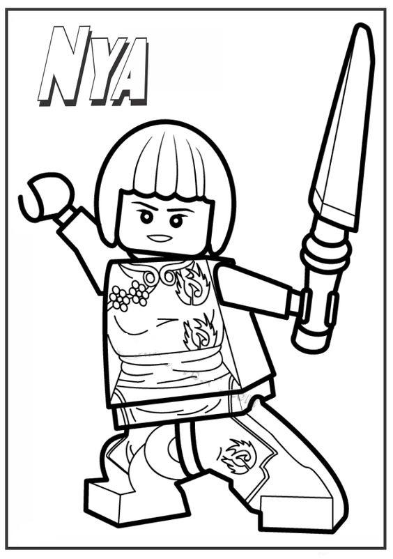 Ninjago Lego Nya Coloring Page