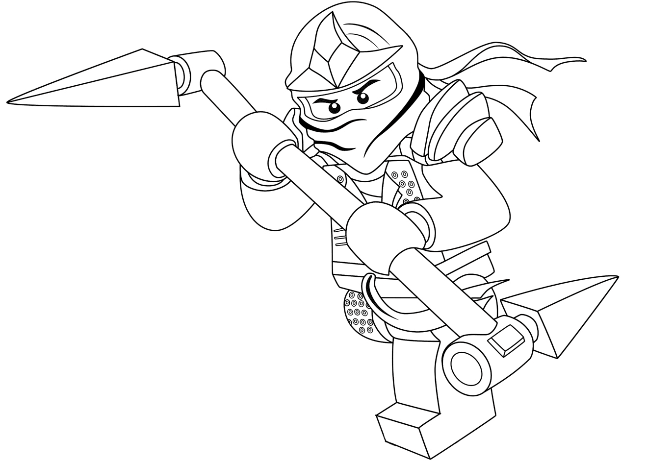 Lego Nexo Knights Lance Coloring
