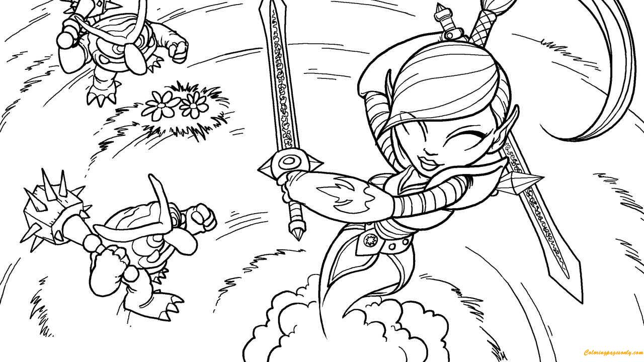 Ninjini Skylanders Coloring Pages Cartoons Coloring Pages Free Printable Coloring Pages Online
