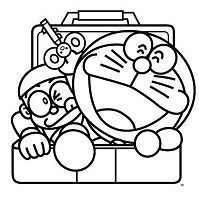Nobita And Doraemon Comes Out From Locker