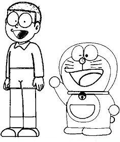 Nobita And Doraemon Coloring Page